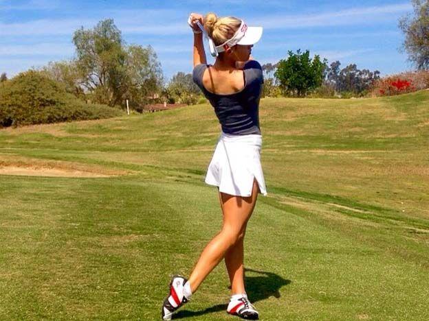 La impresionante golfista que causa furor en las redes