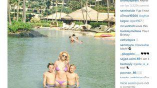 Britney Spears peló lomo en el agua