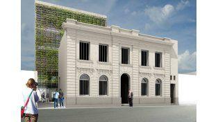 Proyecto. Así quedará el edificio de la casa de estudios terciarios. Gentileza/Prensa Gobernación