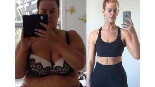 Mirá el mensaje de una chica que bajó de peso y trataron de mentirosa