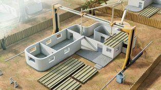 Proyectan una impresora 3D gigante para construir una casa entera en 24 horas
