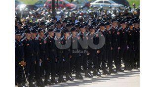 Promoción. El egreso de 1.200 policías comunitarios en los primeros meses del año.