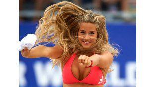 La explosiva mujercita del fútbol playa