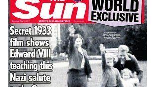 Imagen. La tapa de ayer del The Sun. Isabel es la niña del medio.