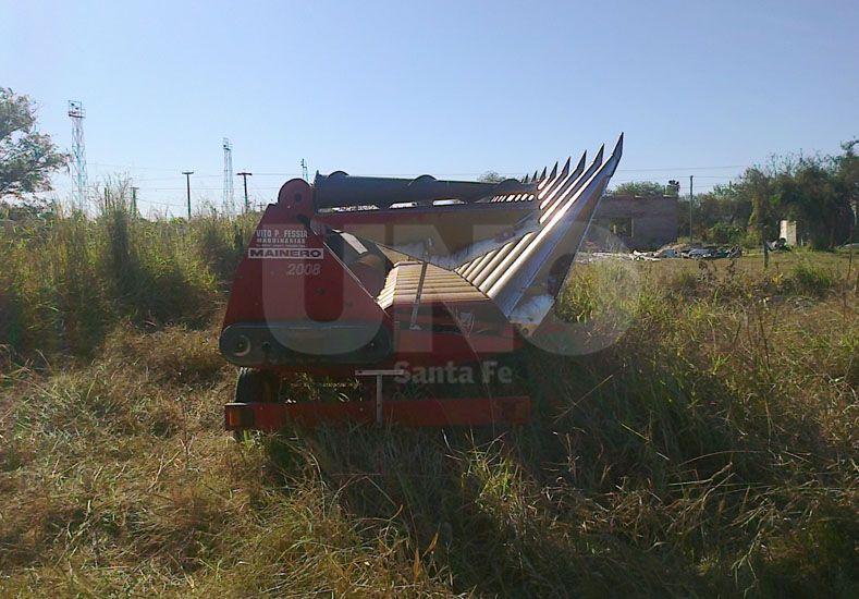 Recuperaron una maquinaria agrícola robada en el departamento Castellanos