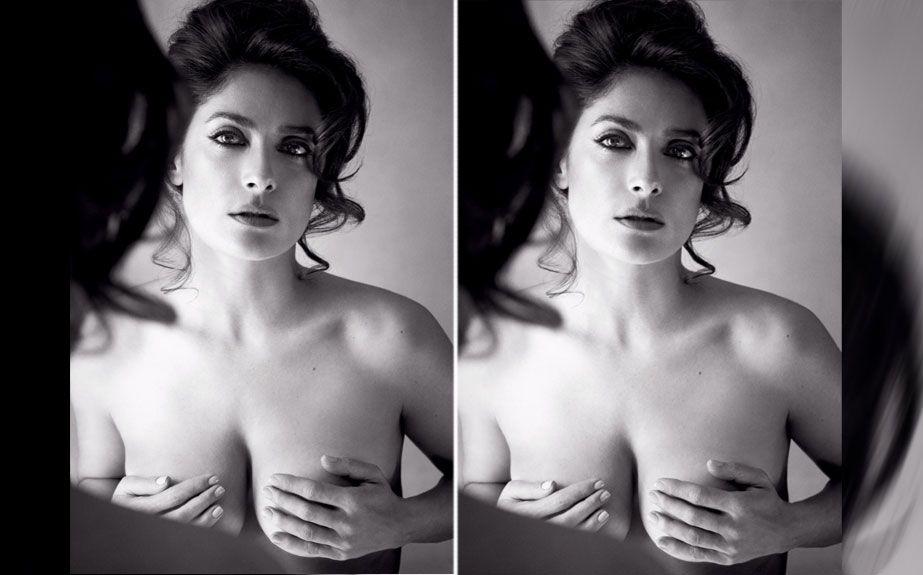 ¡Para un cuadro! El topless de Salma Hayek