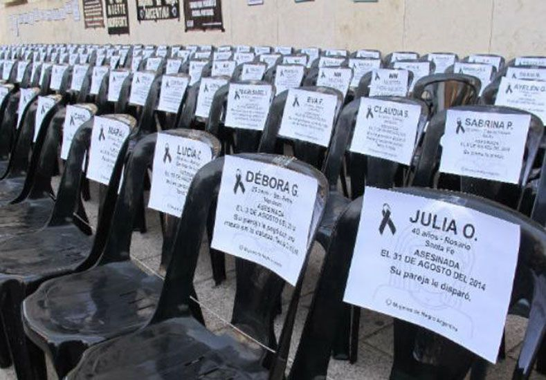 Víctimas. Dos días antes del ataque contra Carmen hubo una manifestación contra la violencia de género en Tribunales.