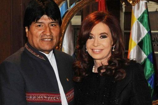 La Presidenta recibió a Evo Morales en la Rosada