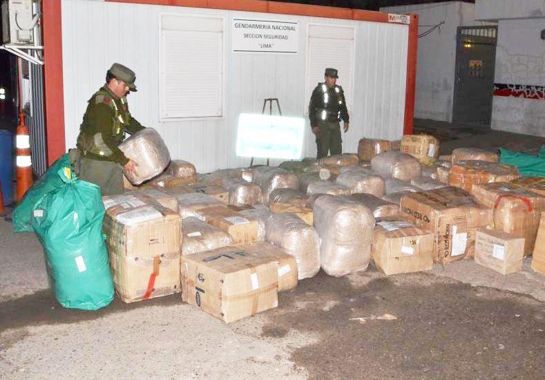 Gendarmería Nacional  secuestró mercadería de contrabando valuada en un millon y medio de pesos