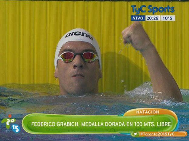 El santafesino Grabich se quedó con la medalla de oro en natación