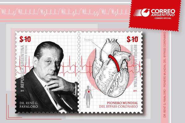 "Correo Argentino lanzó el sello postal ""Dr. René G. Favaloro - Pionero Mundial del Bypass Coronario"""
