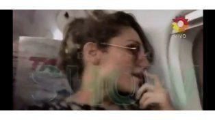 Vicky Xipolitakis intentó ingresar en la cabina del piloto en el vuelo a Paraguay