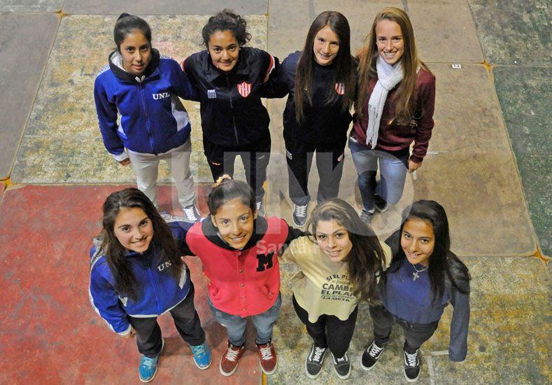 De izquierda a derecha y de arriba hacia abajo: Luana Ruiz Díaz (UNL)