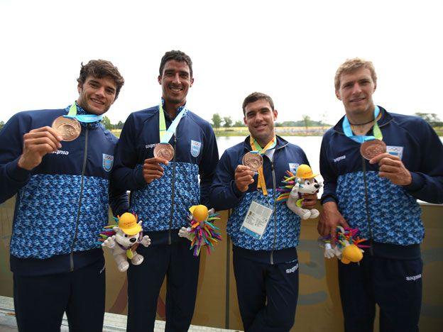 Argentina obtuvo medalla de bronce en canotaje