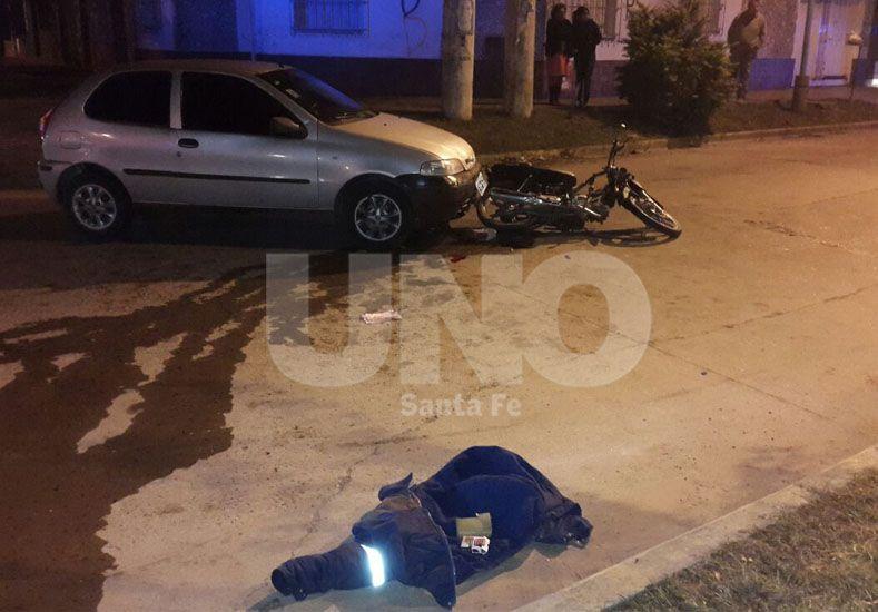 El accidente se produjo en Mitre y Hernandarias