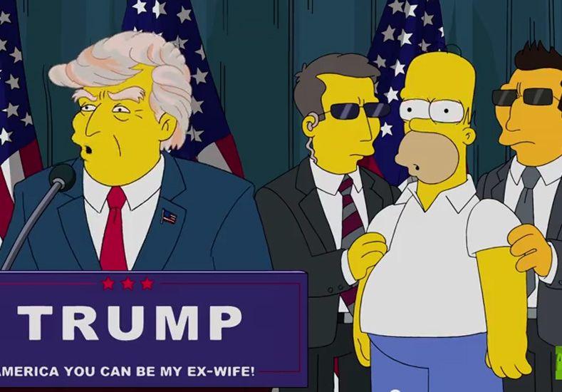 Los Simpson se burlan de los tropiezos de Donald Trump