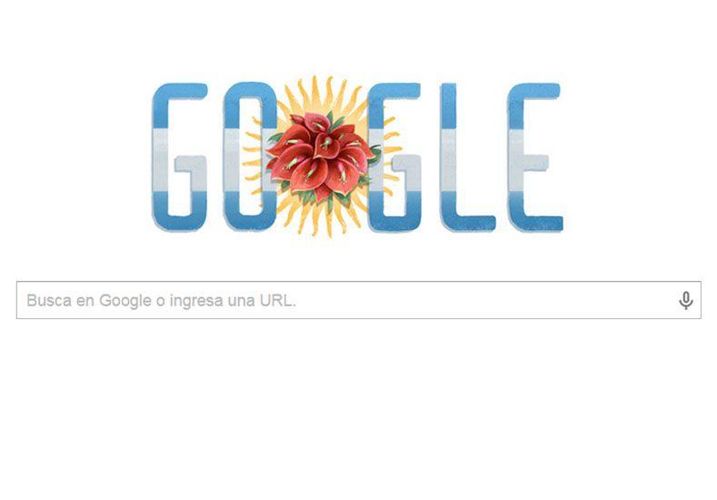 El doodle por el 199º Aniversario de la declaración de Independencia de la Argentina