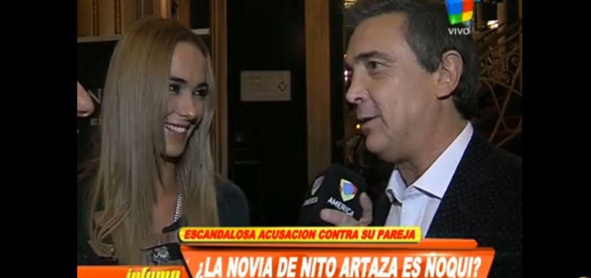 ¿La novia de Nito Artaza es ñoqui en el Senado?
