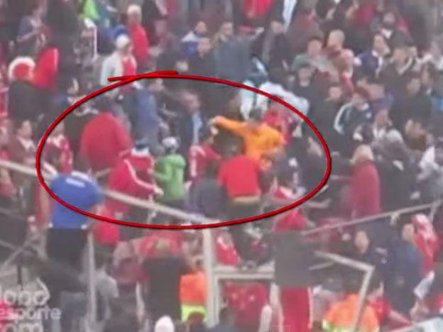 Video: así le pegaron al hermano de Messi en la final