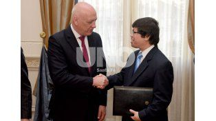 Bonfatti y el embajador de Indonesia dialogaron sobre el Puerto de Santa Fe