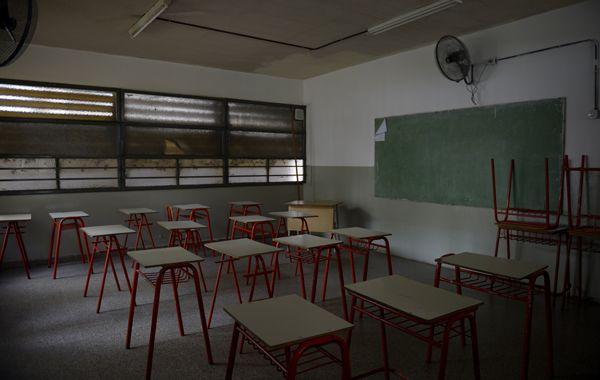 Aulas vacías. Del 13 al 24 de julio no habrá clases en ninguno de los niveles de la educación en la provincia.