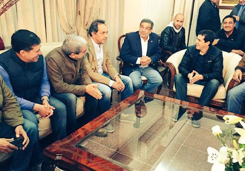 La fórmula presidencial del FpV llegó a La Rioja para acompañar a Sergio Casas