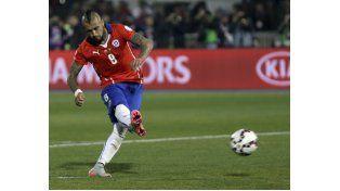 Arturo Vidal fue clave en el mediocampo chileno. Ayer fue elegido el mejor de la final.