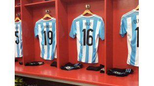 Cómo está el vestuario de Argentina antes de la final con Chile