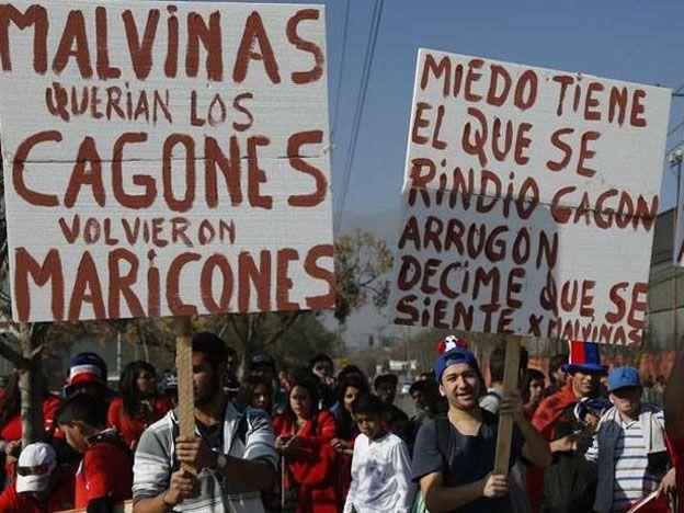 Banderazo picante en las calles de Santiago