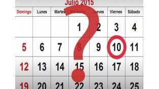 ¿Es feriado puente el 10 de julio?