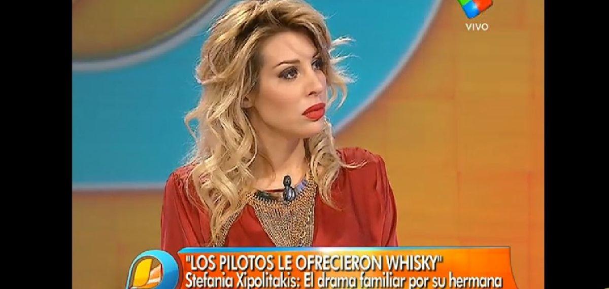 Stefy Xipolitakis: Los pilotos le ofrecieron whisky a mi hermana