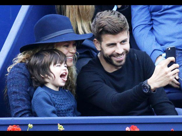 El hijo de Shakira, un astro de las selfies