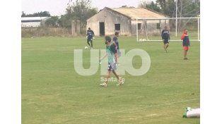 Diego Villar entrenó con normalidad