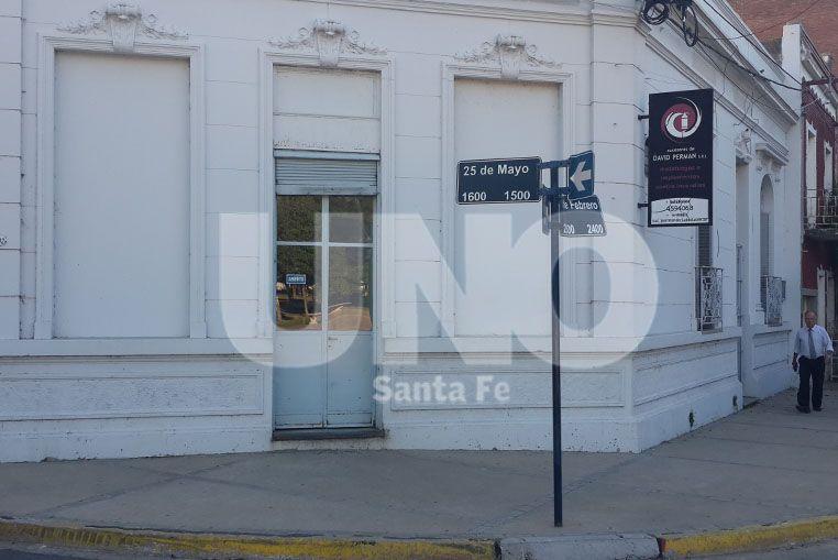 Asaltaron un local comercial ubicado a una cuadra de la Casa de Gobierno de Santa Fe