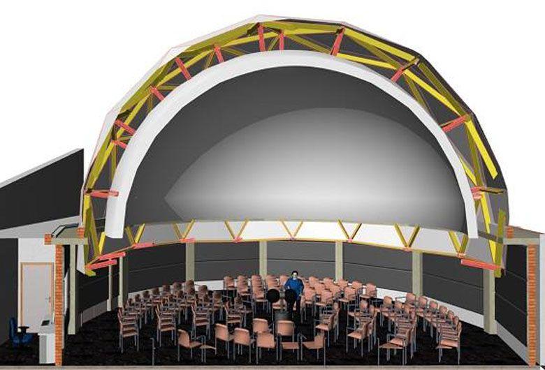 Idea. Un arquitecto hizo un bosquejo de cómo quedaría el espacio. El plano final se terminará esta semana.