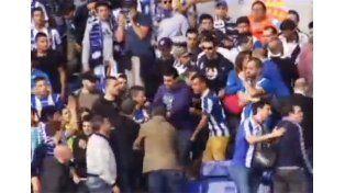 Agresión entre hinchas del Espanyol
