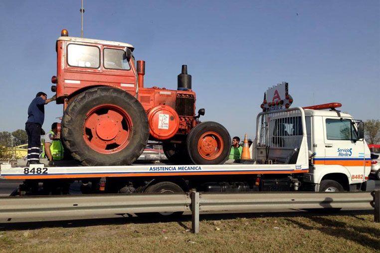 """Insólito. Detuvieron al tractor """"Pampa"""""""