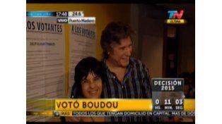 Boudou fue uno de los último en votar porque fue al gimnasio