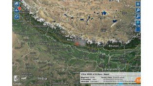 Nuevo sismo de magnitud 5,6 volvió a sacudir a Nepal