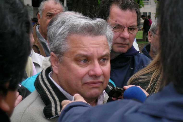 El líder de Apropol. Martínez está imputado por instigar el levantamiento policial