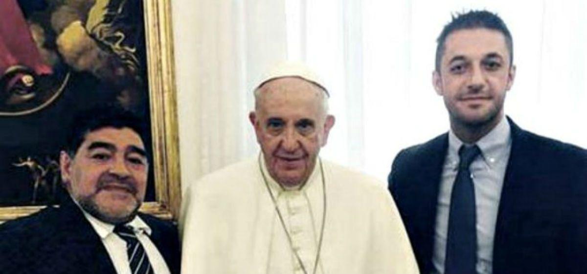 Diego Junior no fue tema de agenda en la reunión del Papa y Diego