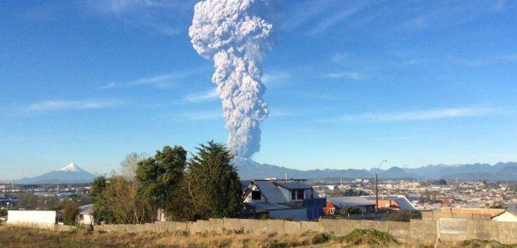 Erupcionó el volcán Calbuco, cerca de Bariloche