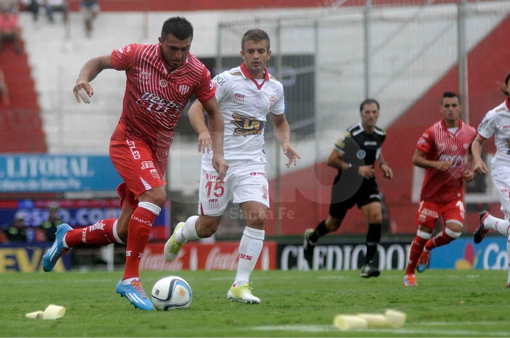 Enrique Luis Triverio llegó a Unión en el segundo semestre de 2014 y anotó 15 goles en 28 partidos que lleva disputados / Foto: Juan Manuel Baialardo - Uno Santa Fe