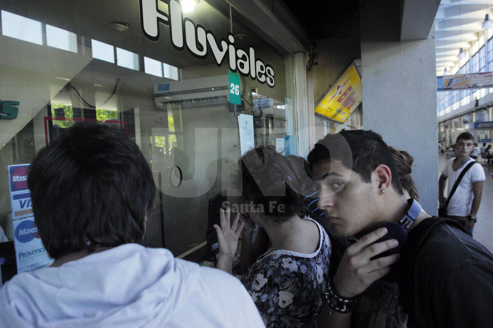En la Uner. Reconocen que el problema del transporte ha impactado en la cantidad de inscriptos / Foto: Juan Manuel Baialardo - Uno Santa Fe