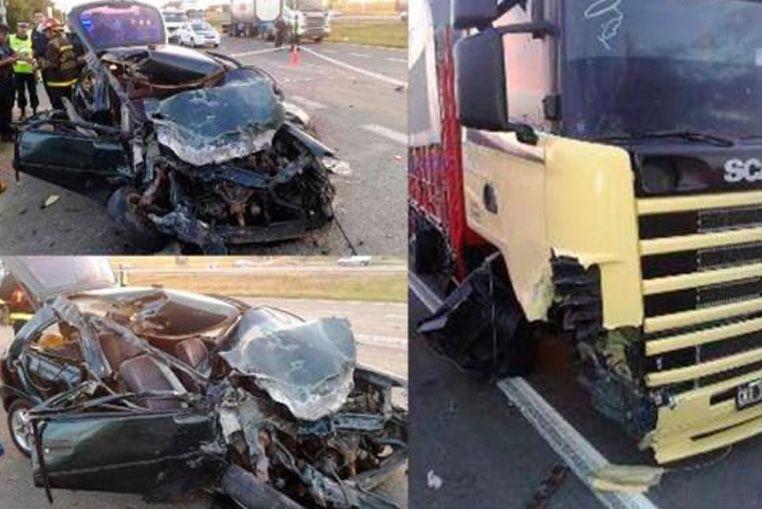 Un automóvil y un camión chocaron en el acceso a Calabacilla