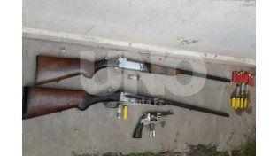 Las tres armas de fuego