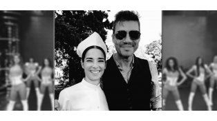 Juanita Viale grabó la apertura de ShowMatch con Marcelo Tinelli