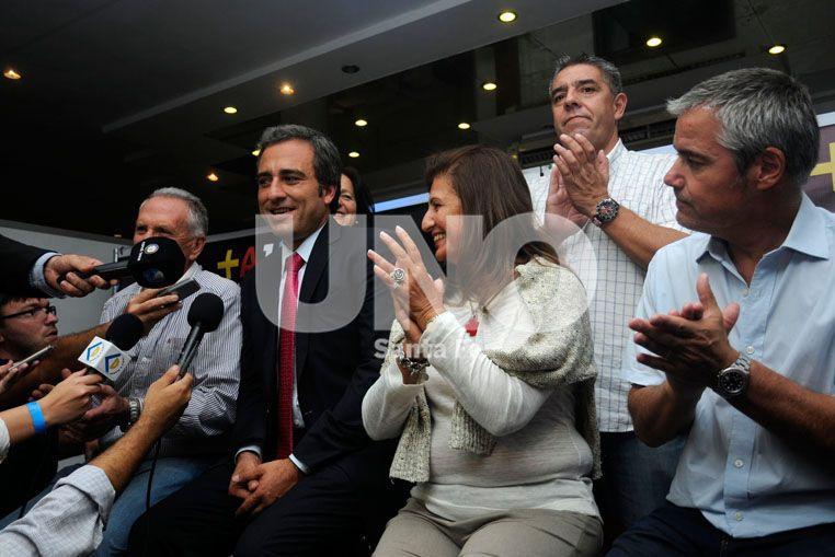 Crecimiento. Oscar Martínez dijo que lograron triplicar la cantidad de votos obtenidos en 2013.