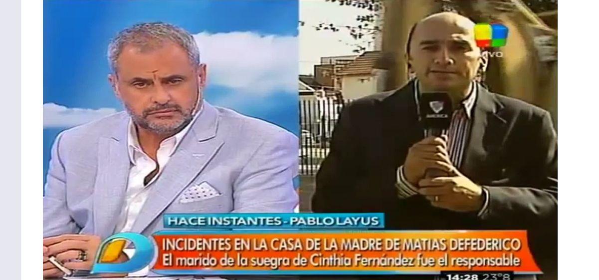 Intentaron agredir al periodista Pablo Layus de Intrusos