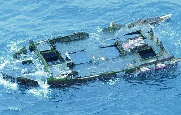 Un pedazo de la proa del barco pesquero japonés sorprendió a la Guardia Costera de EE.UU.